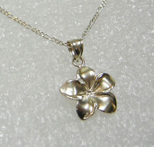 STERLING SILVER FLOWER NECKLACE PENDANT ON 16 INCH CHAIN N479-K