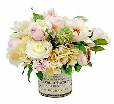 FLOWER ARRANGEMENTS - VINTAGE FRENCH FLORAL BOUQUET - SILK FLORAL ARRANGEMENT