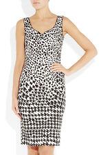 MCQ ALEXANDER MCQUEEN leopardo impresión estiramiento Sarga de algodón-Vestido