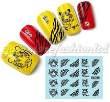 NAIL ART WATER TRANSFER STICKERS TIGER STYLE(B05)
