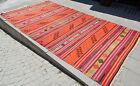 """Anatolia Turkish Kilim 75"""" x 138"""" Hand Woven Wool Vintage Jajim Rug 190 x 350 cm"""