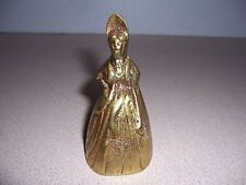 VTG VICTORIAN LADY WOMAN SOLID BRASS FIGURAL BELL
