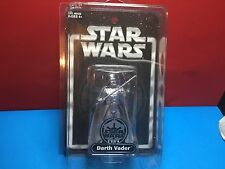 NEW! 2004 STAR WARS SILVER DARTH VADER MINT CONDITION INCLUDES STAR CASE