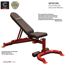 2016 NEW - Body Solid GFID100 Adjustable Flat Incline Decline FID Weight Bench