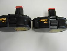 NEW DC9098 Dewalt 18v Ni-Cd Batteries 18 volt (2 pack)
