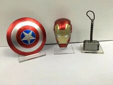 Captain America Shield IronMan Helmet Thor Hammer Avengers Weapons toy Gift 3pcs