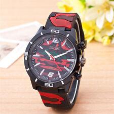 Fashion Round Case Men's Sport Watch Red Camouflage Date Men Quartz Wrist Watch