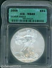 2008 American Silver Eagle ASE S$1 ICG MS69 MS-69 BEAUTIFUL Premium Quality PQ++