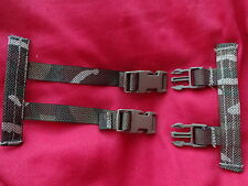 British Army Osprey Molle Straps / Clips for Camelbak Hydration System - MTP