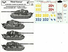 Third Group Decals 1:35 Pz.Kpfw VI Tiger II #2 Schwere SS-PzAbt 501 #35-015