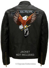 LARGE POW MIA EAGLE EMBROIDERED MOTORCYCLE BIKER PATCH IRON-ON MILITARY HUGE new