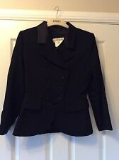 YSL Yves Saint Laurent 2 piece skirt double breasted jacket wool suit UK 12 US 8