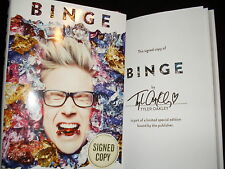 Tyler Oakley signed Binge First 1st printing hardcover book tipped in page