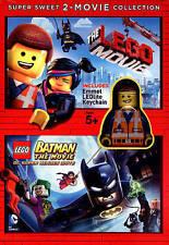 The LEGO Movie/LEGO Batman: The Movie (DVD, 2015, 2-Disc Set) NEW
