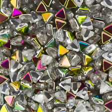 6mm Kheops Par Puca Triangle Beads 6mm Czech Crystal Marea - 9g Tube (K95/5)