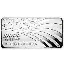 SPECIAL PRICE! 10 oz Silver Bar - APMEX/RMC (.9999 Fine, Co-Branded)