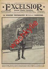 Excelsior n°1676 du 18/06/1915 mort de Reginald Warneford aviateur
