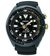New Seiko SUN045 Prospex Kinetic GMT 50th Anniversary Silcone Strap Men's Watch