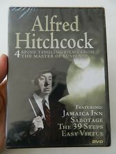 ALFRED HITCHCOCK - 4 SPINE TINGLING FILMS FROM THE MASTER OF SUSPENSE DVD, NEW!!