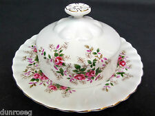 LAVENDER ROSE COVERED BUTTER DISH, 1st QUALITY, GC, ENGLAND, ROYAL ALBERT