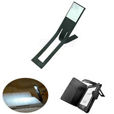 Black Flexible Folding LED Clip On Reading Book Light Lamp For Reader Kindle HOT