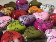 25 Efecto De Mármol Surtido de plástico de color del encanto del corazón Colgantes 22mm CHP0079