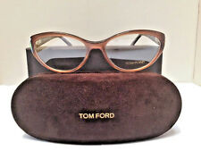 Tom Ford Women's Eyeglasses TF 5244 047 Light Brown / Red Tortoise 54-16-135 NEW