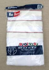 Vintage Mac Henry Briefs BOYS XL 16-18 Men's XS underwear Package of 3 White