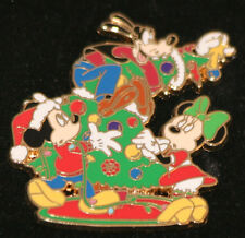 Disney Mickey, Minnie & Goofy Christmas Tree Advent Pin 2007 LE 1000