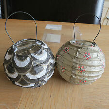 JOHN LEWIS Battery Operated Paper Lanterns - Pack of 2 - VERY SHABBY CHIC!!