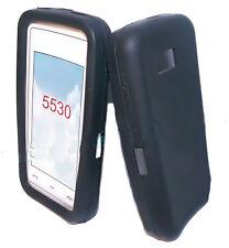 Silikon TPU Handy Hülle Cover Case Schale Schutzhülle in Schwarz für Nokia 5530
