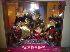 Holiday Sisters Special Edition Barbie Kelly Stacie Gift Set NIB