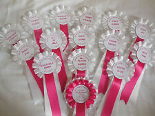 Hen Party Comic name Rosettes X 14 Plus a bride to be Rosette