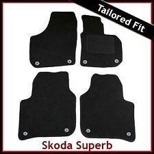 Skoda Superb Mk2 2008-2015 Fully Tailored Fitted Carpet Car Mats BLACK