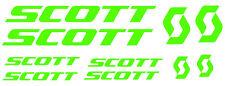 6 pegatinas de vinilo Verde fluorescente Scott  para bicicleta,  no 591