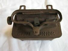 Vintage Cast Iron Game Junior Oil Lamp Wick Burner Stove Heater