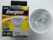 "ENERGIZER LED GU10 5W=50W BULBS. WARM WHITE ""A"" RATED NON DIMMABLE ENERGY SAVING"