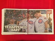 2016 MLB Chicago Cubs World Series celebration newspapers / Sun-Times / Tribune