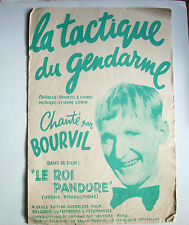 partition Bourvil  La tactique du gendarme