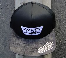 Vans Skateboard Co. Stay Black/Cement Patch Logo Mens Snapback Hat