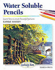Water Soluble Pencils by Carole Massey NEW Art Learn to Draw Book