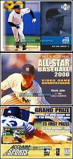2x UD POWERPLAY 1999 DEREK JETER YANKEES AUXILARY AUX5 VIDEO GAME SWEEPSTAKE LOT