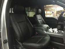 2015 2016 FORD F-150 SUPER CREW XLT BLACK KATZKIN LEATHER INTERIOR SEAT COVER