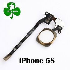 For iPhone 5S Gold Fingerprint Touch ID Home Button Flex Cable Replacement