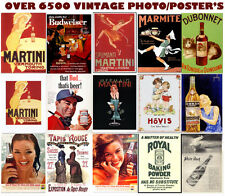 Vintage Photographs,Old Advertising Posters, all CLASSIC on CD 6000 +