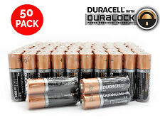 50 AA Alkaline Duracell Batteries 1.5v WHOLESALE Bulk Battery Lot Exp. 2025