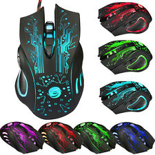 6 Button 5500DPI LED Optical Mouse USB Wired Gaming Mouse Computer PRO Game Mice