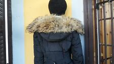 Beige real fox fur collar scarf wrap trim strip shawl for hood jacket parka coat