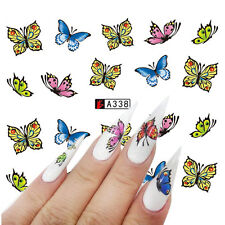 1 Sheet Water Transfer Decal Butterfly Theme Manicure Nail Art Sticker A338