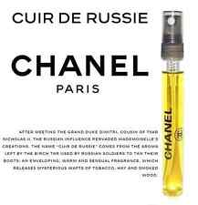 Les Exclusifs de Chanel Cuir De Russie 12ml Eau de Toilette Travel Spray Perfume